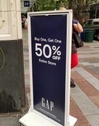 Gap50off
